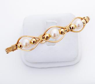 Gold 3Pearl Bracelet