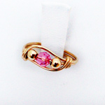 Child's Gold Swarovski Crystal Birthstone Ring