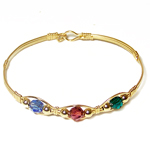 Gold Swarovski Crystal Mother's Bracelet