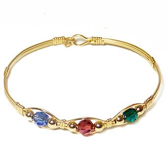 Birthstone jewelry gold swarovski crystal mothers bracelet aloadofball Images