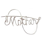 Silver Wire Mother's Pin