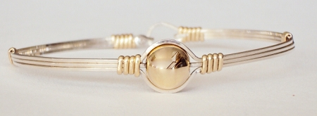 Two Tone Silver and Gold Bead Bracelet