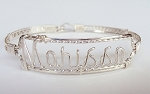 Sterling Silver Wire Name Bracelet