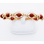 Gold Gemstone Multi-Bead Bracelet