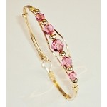 Child's Gold Swarovski Crystal Birthstone Bracelet