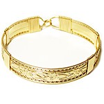 Gold Patterned Wire Bracelet
