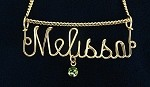 Gold Wire Name Pendant