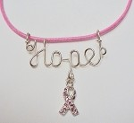 Sterling Silver Hope Necklace with Awareness Ribbon