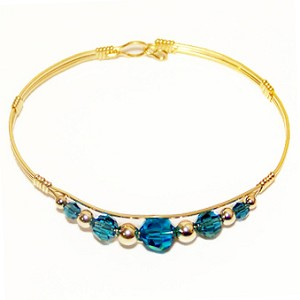 December Birthstone Bracelet - Blue Zircon