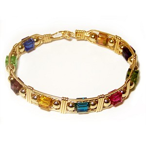 Large Crystal Cubes Bracelet - $72 as Shown